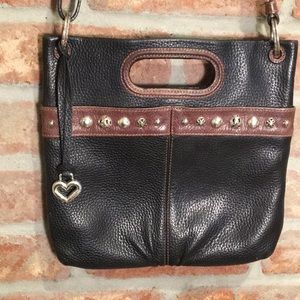 Brighton crossbody leather handbag EUC
